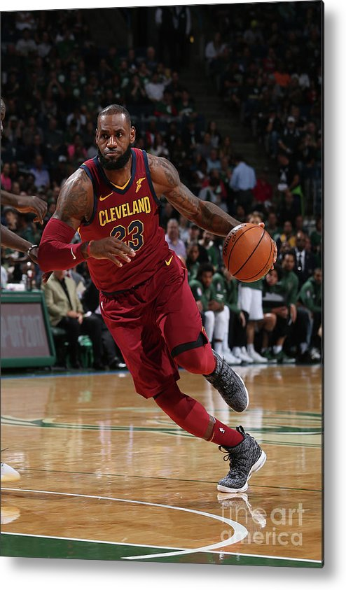 Nba Pro Basketball Metal Print featuring the photograph Lebron James by Gary Dineen