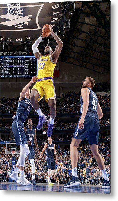 Nba Pro Basketball Metal Print featuring the photograph Lebron James by Glenn James