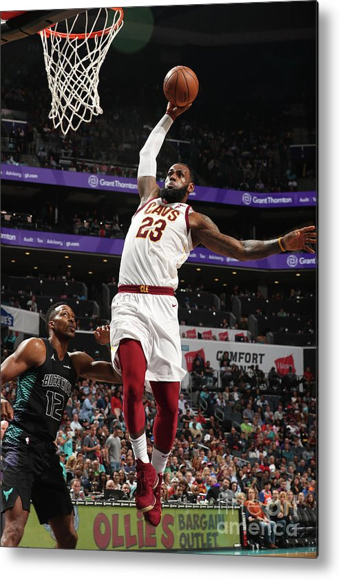 Nba Pro Basketball Metal Print featuring the photograph Lebron James by Kent Smith