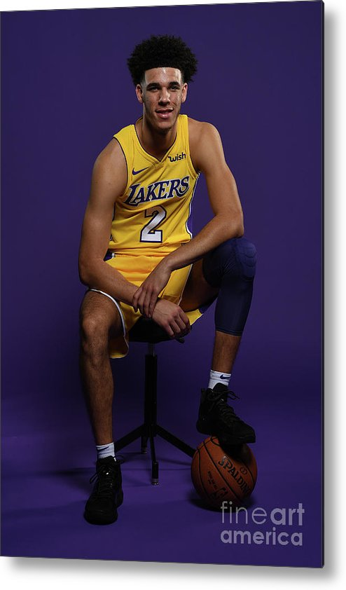 Media Day Metal Print featuring the photograph Lonzo Ball by Aaron Poole