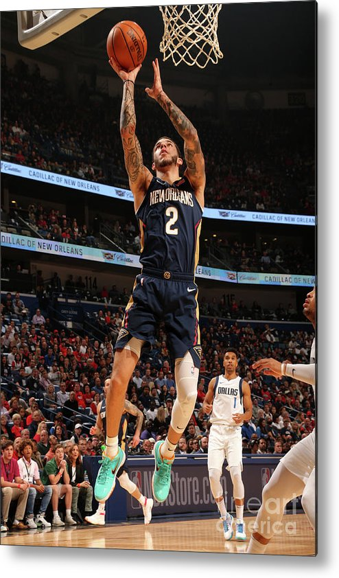 Smoothie King Center Metal Print featuring the photograph Lonzo Ball by Layne Murdoch Jr.