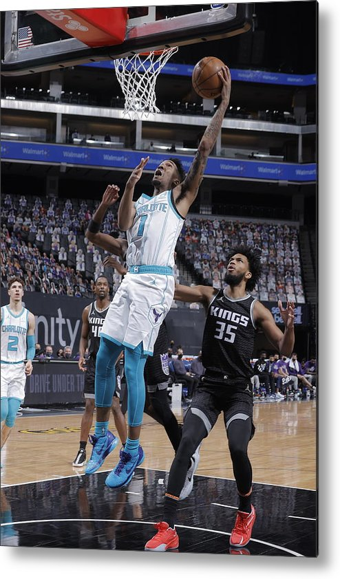 Nba Pro Basketball Metal Print featuring the photograph Malik Monk by Rocky Widner