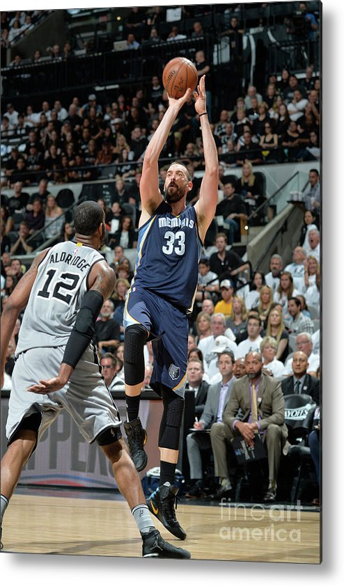 Playoffs Metal Print featuring the photograph Marc Gasol by Mark Sobhani