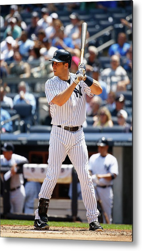 People Metal Print featuring the photograph Mark Teixeira by Al Bello