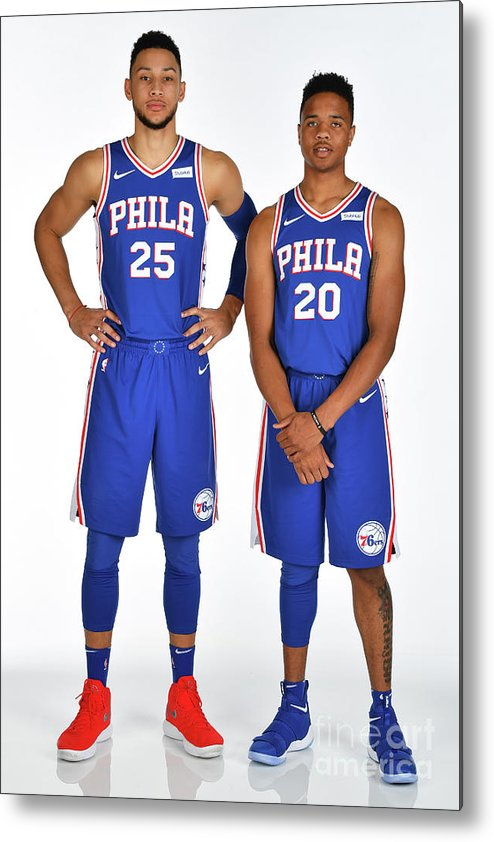 Media Day Metal Print featuring the photograph Markelle Fultz and Ben Simmons by Jesse D. Garrabrant