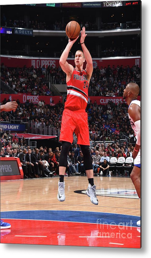 Nba Pro Basketball Metal Print featuring the photograph Mason Plumlee by Andrew D. Bernstein