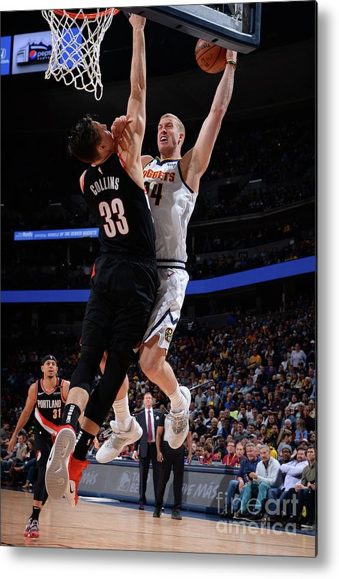 Playoffs Metal Print featuring the photograph Mason Plumlee by Bart Young