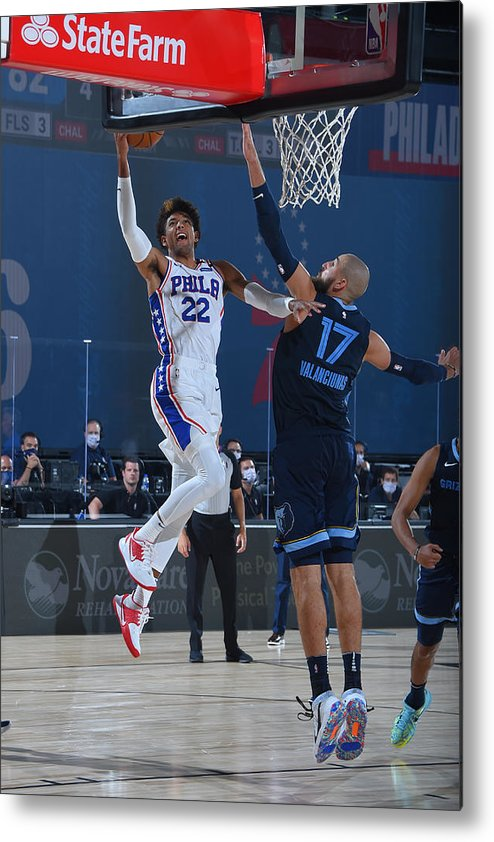 Nba Pro Basketball Metal Print featuring the photograph Memphis Grizzlies v Philadelphia 76ers by Bill Baptist