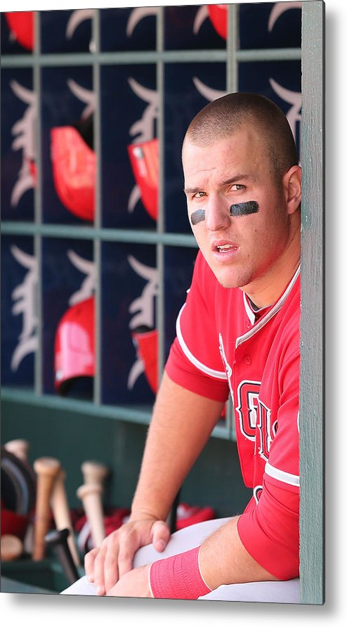 Ninth Inning Metal Print featuring the photograph Mike Trout by Leon Halip