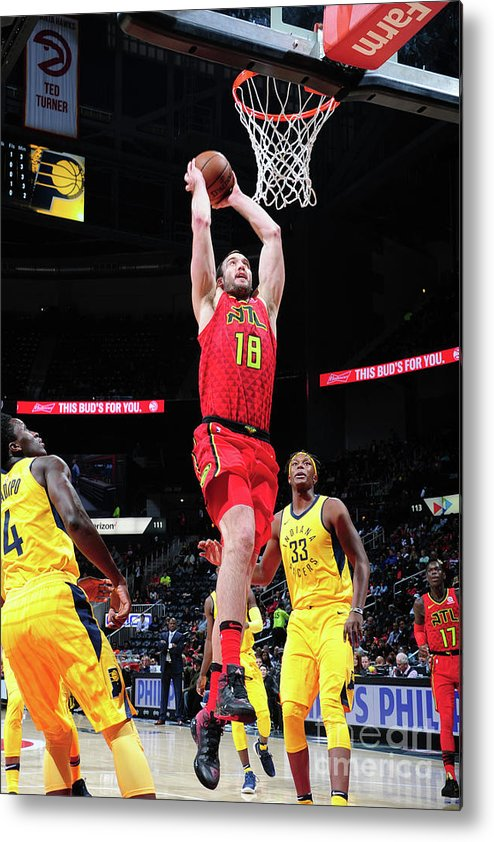 Atlanta Metal Print featuring the photograph Miles Plumlee by Scott Cunningham
