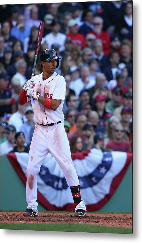 People Metal Print featuring the photograph Mookie Betts by Maddie Meyer