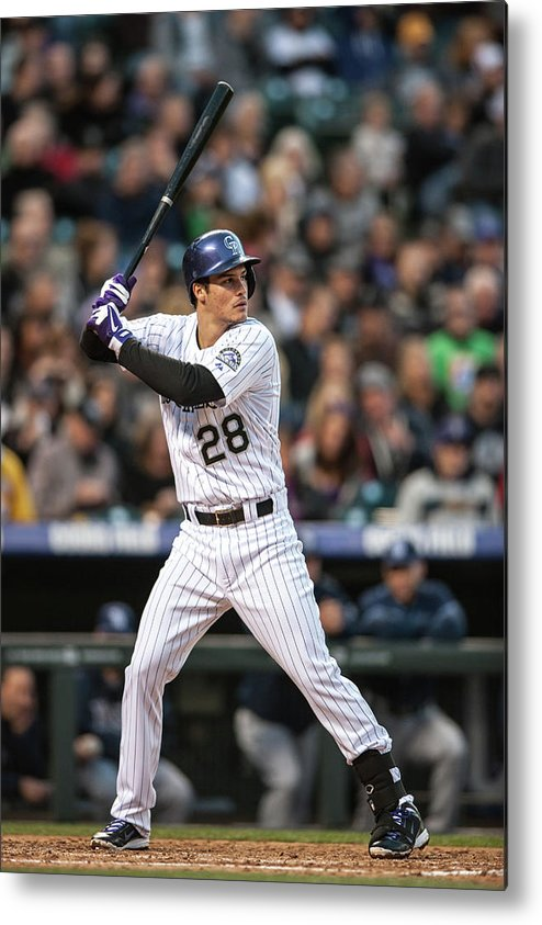 National League Baseball Metal Print featuring the photograph Nolan Arenado by Dustin Bradford