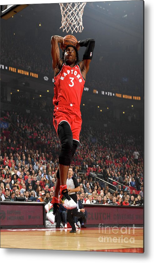Nba Pro Basketball Metal Print featuring the photograph Og Anunoby by Ron Turenne