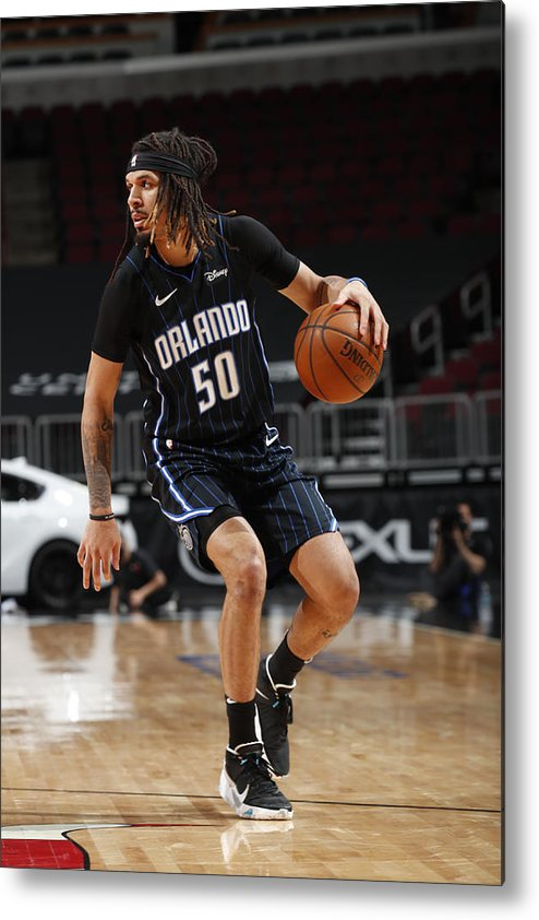 Nba Pro Basketball Metal Print featuring the photograph Orlando Magic v Chicago Bulls by Jeff Haynes