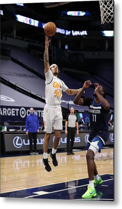 Nba Pro Basketball Metal Print featuring the photograph Orlando Magic v Minnesota Timberwolves by Jordan Johnson