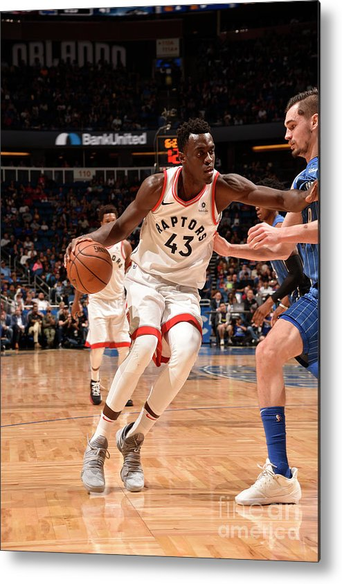 Nba Pro Basketball Metal Print featuring the photograph Pascal Siakam by Gary Bassing
