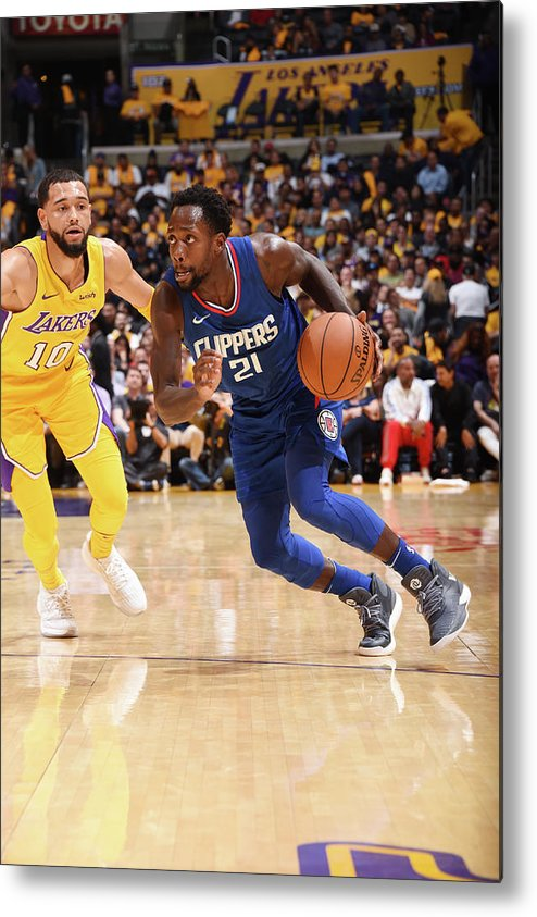 Nba Pro Basketball Metal Print featuring the photograph Patrick Beverley by Andrew D. Bernstein