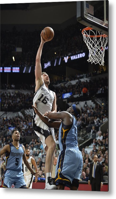 Playoffs Metal Print featuring the photograph Pau Gasol by Mark Sobhani