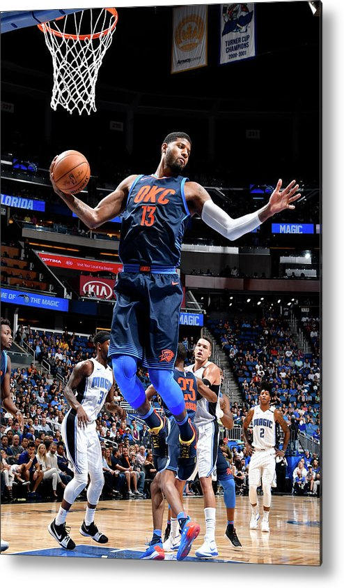 Nba Pro Basketball Metal Print featuring the photograph Paul George by Fernando Medina