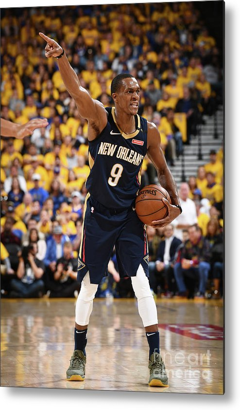 Playoffs Metal Print featuring the photograph Rajon Rondo by Garrett Ellwood