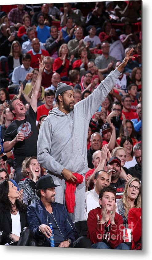 Nba Pro Basketball Metal Print featuring the photograph Rasheed Wallace by Sam Forencich