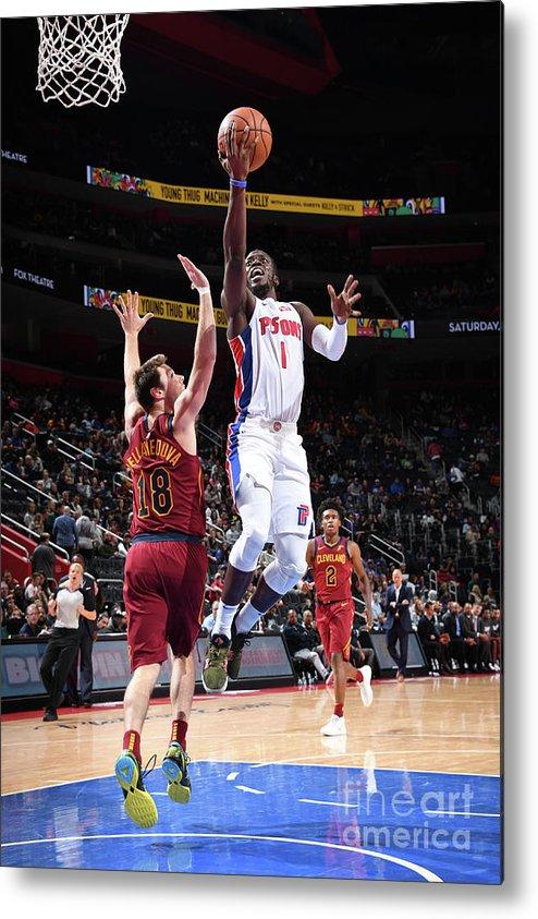 Nba Pro Basketball Metal Print featuring the photograph Reggie Jackson by Chris Schwegler