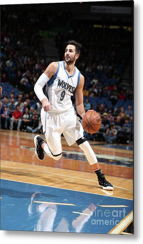 Nba Pro Basketball Metal Print featuring the photograph Ricky Rubio by David Sherman