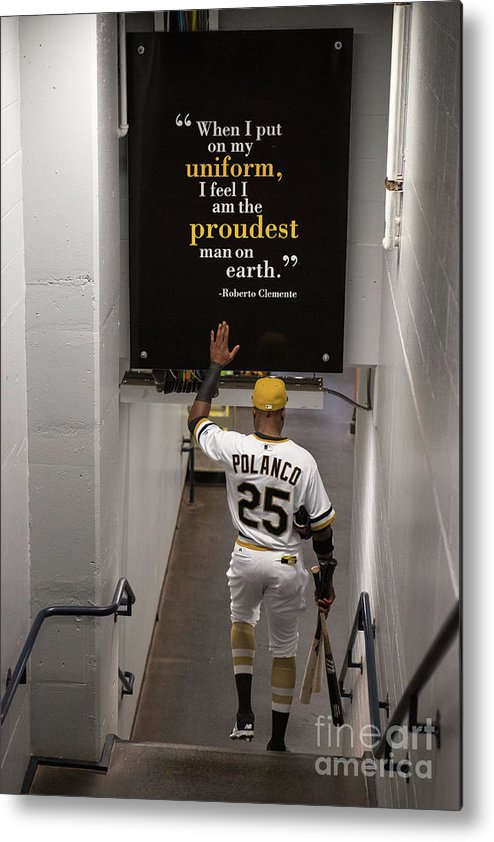 People Metal Print featuring the photograph Roberto Clemente and Gregory Polanco by Justin Berl