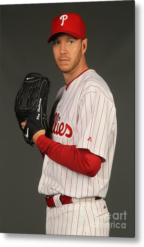 Media Day Metal Print featuring the photograph Roy Halladay by Nick Laham