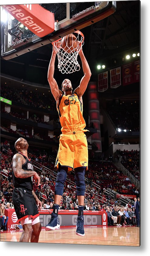 Nba Pro Basketball Metal Print featuring the photograph Rudy Gobert by Bill Baptist