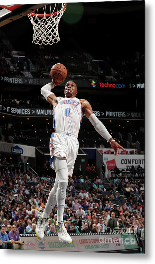 Nba Pro Basketball Metal Print featuring the photograph Russell Westbrook by Kent Smith