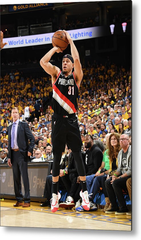 Playoffs Metal Print featuring the photograph Seth Curry by Andrew D. Bernstein