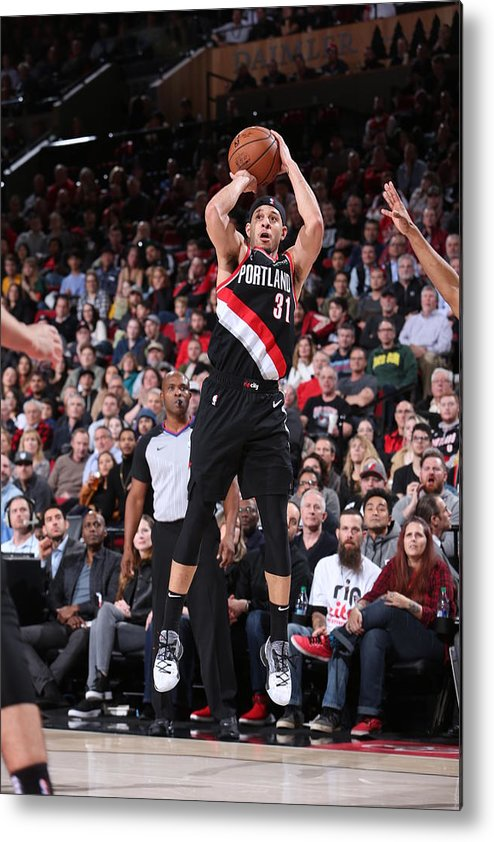 Nba Pro Basketball Metal Print featuring the photograph Seth Curry by Sam Forencich