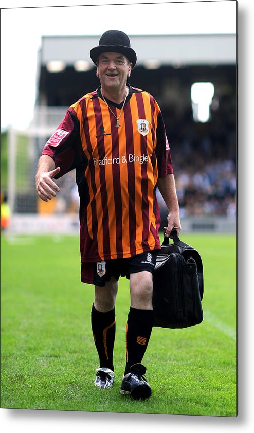 People Metal Print featuring the photograph Soccer - Coca-Cola Football League Two - Port Vale v Bradford City - Vale Park by Neal Simpson - EMPICS
