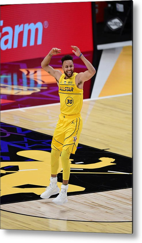 Atlanta Metal Print featuring the photograph Stephen Curry by Adam Hagy