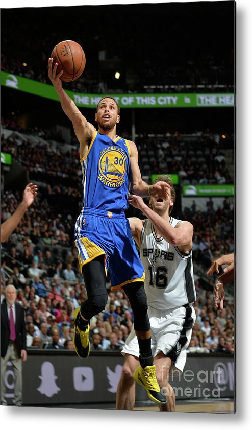 Nba Pro Basketball Metal Print featuring the photograph Stephen Curry by Mark Sobhani