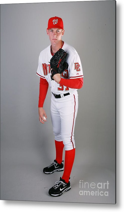 Media Day Metal Print featuring the photograph Stephen Strasburg by Doug Benc