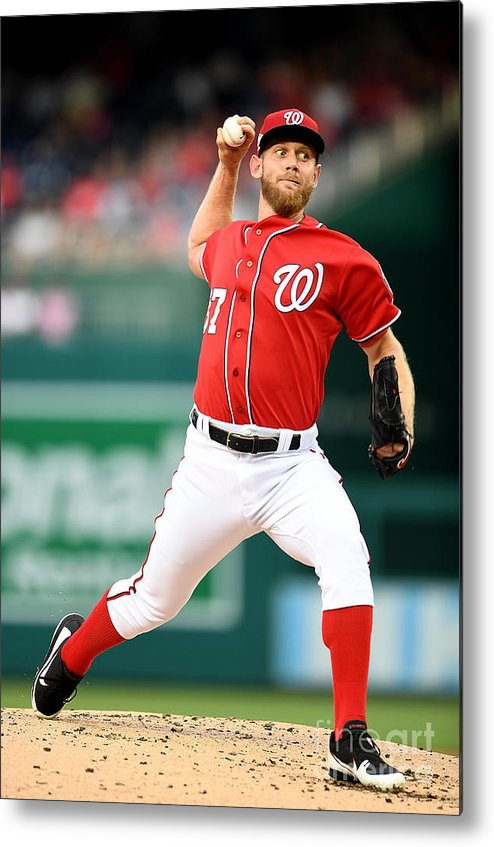 Second Inning Metal Print featuring the photograph Stephen Strasburg by Greg Fiume