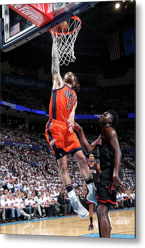 Playoffs Metal Print featuring the photograph Steven Adams by Layne Murdoch