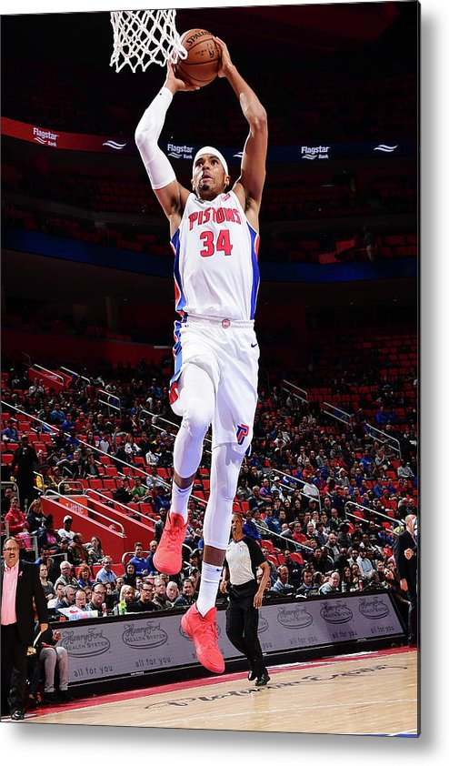 Nba Pro Basketball Metal Print featuring the photograph Tobias Harris by Chris Schwegler