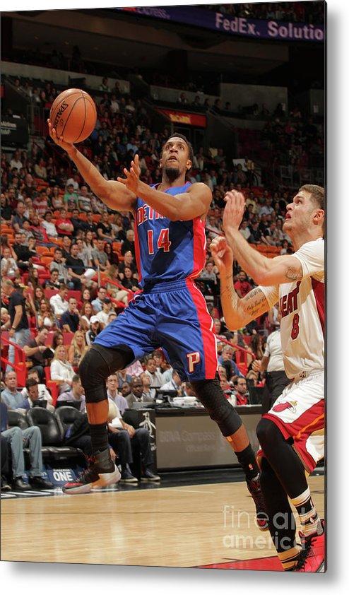 Nba Pro Basketball Metal Print featuring the photograph Tyler Johnson by Oscar Baldizon