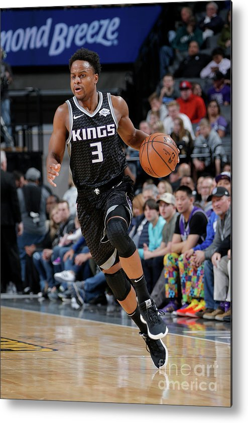 Nba Pro Basketball Metal Print featuring the photograph Yogi Ferrell by Rocky Widner