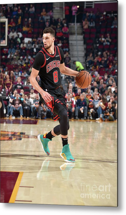 Chicago Bulls Metal Print featuring the photograph Zach Lavine by David Liam Kyle