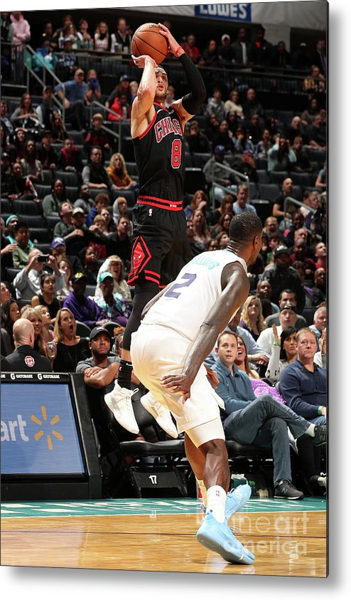 Chicago Bulls Metal Print featuring the photograph Zach Lavine by Kent Smith