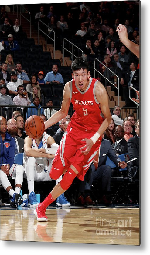 Nba Pro Basketball Metal Print featuring the photograph Zhou Qi by Nathaniel S. Butler