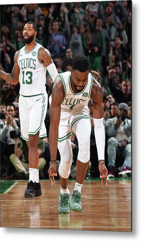 Nba Pro Basketball Metal Print featuring the photograph Jaylen Brown by Brian Babineau