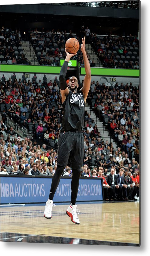 Nba Pro Basketball Metal Print featuring the photograph Lamarcus Aldridge by Mark Sobhani