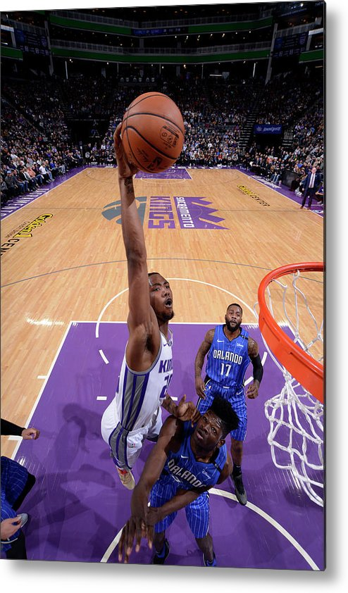Nba Pro Basketball Metal Print featuring the photograph De'aaron Fox by Rocky Widner