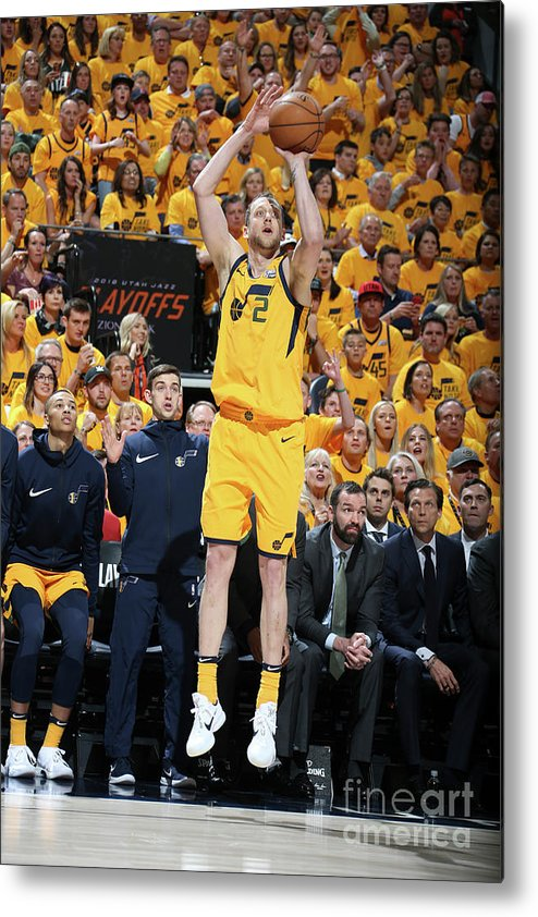Playoffs Metal Print featuring the photograph Joe Ingles by Melissa Majchrzak