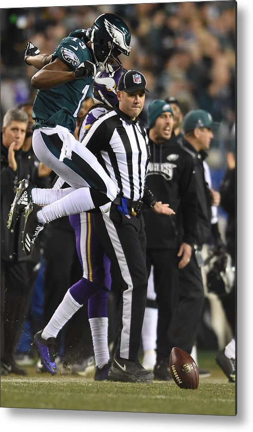 Playoffs Metal Print featuring the photograph NFL: JAN 21 NFC Championship Game - Vikings at Eagles by Icon Sportswire